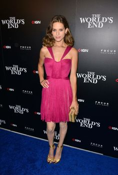 Lyndsy Fonseca in Maria Lucia Hohan pink chiffon dress