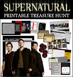Test you and your friends knowledge of the Supernatural show with our printable trivia treasure hunt! Perfect for parties!