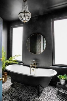 Introducing exquisite lighting designs to your bathroom decor is an excellent way of enhancing your overall bathroom design. Dark Bathrooms, Beautiful Bathrooms, White Bathroom, Small Bathroom, Master Bathroom, Modern Bathrooms, Cosy Bathroom, Bathrooms Decor, Classic Bathroom