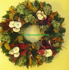 Plow & hearth apple cinnamon wreath giveaway at shore savings with patty