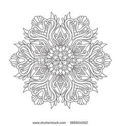 Decorative mandala. Vector illustration. Good for coloring book for adult and older children. Coloring page. Outline drawing.