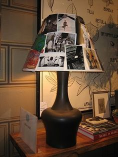 Show off some great pictures and jazz up an old lamp shade.
