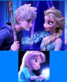 Jack Frost, Queen Elsa, & their daughter Princess Jessica Frost <3  (made by Art Queen)
