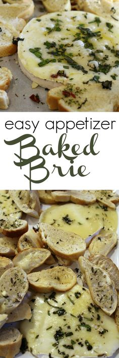 Easy Baked Brie Appetizer - seasoned with fresh herbs - melts in your mouth AND SO easy to make!!