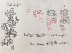 Zentangle pattern -Rattangle