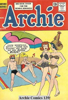 Archie Comics - My mom and I would walk to the corner drug store . she would buy me an Archie comic (or Wonder Woman) and some MM's for the candy dish. Archie Comics Characters, Archie Comic Books, Vintage Comic Books, Detective Comics, Comic Book Characters, Vintage Comics, Comic Character, Vintage Toys, Vintage Art