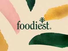 Beautiful branding for Superfood brand Foodiest, by Yujo! Creatividad Aplicada in Mexico. Logo Restaurant, Organic Restaurant, Food Branding, Branding Ideas, Food Logo Design, Branding Design, Organic Brand, Organic Logo, E Mc2