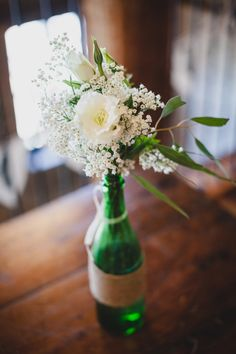 Rustic Vintage Wedding - Rustic Folk Weddings Ideas for centerpieces for RehDinner