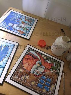 ILLUSTRAZIONI DEDICATE AL MECATO:  in queste immagini potete vedere l'uso di alcune mie illustrazioni applicate al mercato. Biglietti d'auguri, scatole ecc realizzate a mano da pandora's box creazioni di carta.