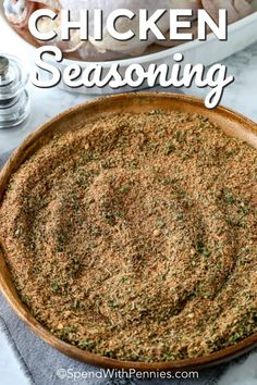Made with 11 simple spices, this easy chicken seasoning creates juicy, tender meat that is full of flavor. Whether grilling, baking or roasting this seasoning is perfect to rub a whole chicken, breasts or thighs in. Easy Chicken Seasoning, Poultry Seasoning, Chicken Spices, Seasoning Mixes, Chicken Recipes, Baked Chicken Legs, Baked Chicken Breast, Chicken Breasts, Chicken Breast Dry Rub Recipe