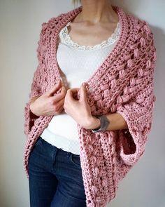 Crochet Cardigan pattern PDF – Inmost Cardigan – crochet jacket pattern in English – The Best Ideas Crochet Jacket Pattern, Black Crochet Dress, Crochet Cardigan Pattern, Crochet Shawl, Easy Crochet, Crochet Stitches, Knit Crochet, Crochet Patterns, Crochet Tops