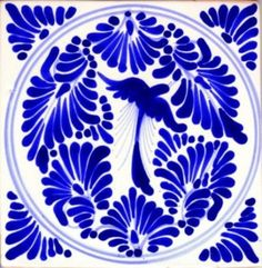 "Talavera tile with ""Bird"" classic design for old world style home and restaurant interior decorating including kitchens, bathrooms, foyer walls, and stairs. Mexico handmade in ceramic clay with free delivery to the US mainland. Painting Ceramic Tiles, Clay Tiles, Tile Art, Ceramic Clay, Mexican Home Decor, Foyer Decorating, Interior Decorating, Decorating Tips, Interior Design"