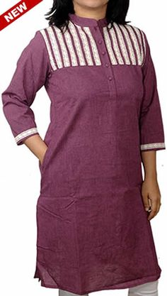 Elite Purple Crochet Work Corporate Kurta