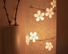 Lampe fleurs de cerisier