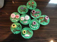 FrankenMonster Halloween Cupcakes