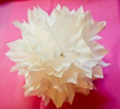 hey sis!: coffee filter pom-poms {three ways}