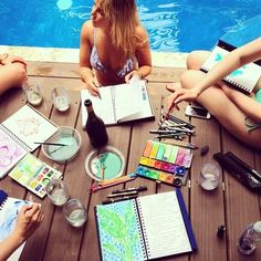 Lilly Pulitzer print designers getting inspired in Key West!  My total dream job, so jealous!
