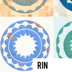 The Rin quilt pattern is a celebration of circles, arcs and symmetry! Big blocks make a big impact in this design which features five project options.