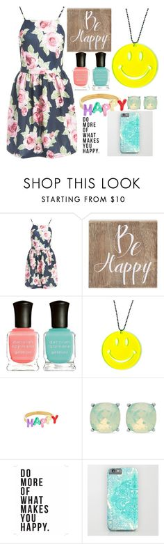 """""""Be Happy!"""" by jojo-0104 ❤ liked on Polyvore featuring Sans Souci, Belle Maison, Deborah Lippmann, Kate Spade and Spartina 449"""