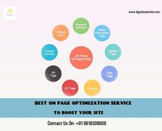 On-page SEO is important because it helps search engines understand your website and its content, as well as identify whether it is relevant to a searcher's query. Onpage Optimization focus on creating web page design and content more search engine friendly.   Digitalwebtricks is offering affordable Onpage and Offpage Optimization service to boost your site and get higher rank in Google SERP.  Contact Us for exciting offers.  #seo #digitalmarketing #marketing #socialmediamarketing… Social Media Marketing, Digital Marketing, Seo Basics, Seo Tutorial, Best Seo Company, On Page Seo, Seo Services, Understanding Yourself, Page Design