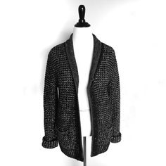 "Rag & Bone | Neiman Marcus Shawl Collar Cardigan NWOT Rag & Bone created this for the very exciting Target | Neiman Marcus collaboration. With classic, rustic construction and a signature contemporary edge, this rag & bone cardigan sweater is the perfect wardrobe staple. Three-gauge heather combo knit. Contrast shawl collar with tipping; button front. Long sleeves with ribbed cuffs. Ribbed welt pockets. Ribbed hem. Approx. 18 1/2""W shoulders; 31""L sleeves; 28""L front. Wool/cotton. Please be…"