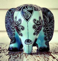 Elephant statue Elephant bank Baby elephant by StephanieCeramics, $120.00