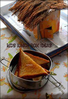 Bread toast-Kids lunch box http://www.upala.net/2015/11/bread-toast-with-strawberry-jam-kids.html