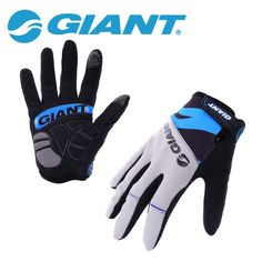 GIANT Winter Shockproof Cycling Gloves Full Finger Nylon Road Bike Gloves Mtb Sports Bicycle Gloves Guantes Ciclismo 4 Color