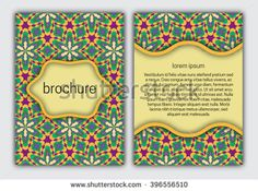 #Brochure colorful #cover template. #Booklet, brochure, #card, #book cover layout #design.