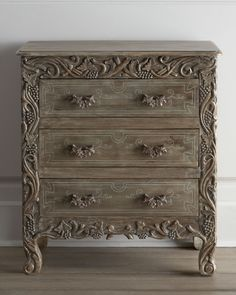 handcrafted gray chest | horchow