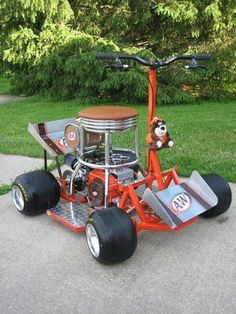 ^^Head to the webpage to see more about drink cart. Check the webpage to read more** Viewing the website is worth your time. Cool Go Karts, Homemade Go Kart, Diy Go Kart, Minis, Cool Bar Stools, Drink Cart, Trendy Bar, Bar Cart Decor, Kart Racing
