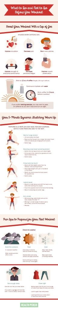 What to Do and Not to Do Before You Workout