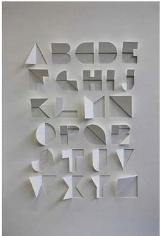 A typeface created from a single sheet of paper, with only cuts and folds. The process used to create the alphabet involved looking at origami and symmetry within letterforms. Typography Letters, Graphic Design Typography, Hand Lettering, Cursive Calligraphy, Japanese Typography, Typography Poster, Graphisches Design, Logo Design, Interior Design