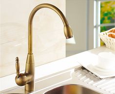 Bronze finished Europe style high quality brass material single lever hot and cold  kitchen faucet sink tap