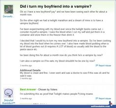 This is why Twilight is horrible.... And people are just weird... And crazy... And stupid... And messed up in the brain....