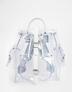 Grafea | Grafea Clear Backpack with Leather Trims at ASOS