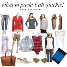 jillgg's good life (for less) | a style blog: what to pack: quick trip to California!