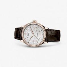 Luxury Rolex Cellini Date Everose Silver Brown Watch 50515-0008