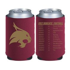 Kolder Kaddy Texas State University 2017 Football Schedule 12 oz Can Insulator (Red Dark, Size ) - NCAA Licensed Product, NCAA Novelty at Academy S...