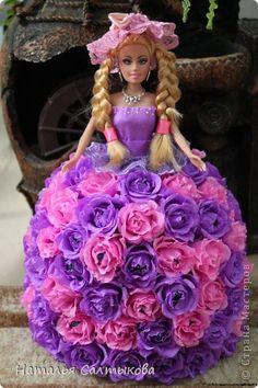 Куклы Свит-дизайн День рождения Моделирование конструирование Кукла из конфет Бумага гофрированная фото 6