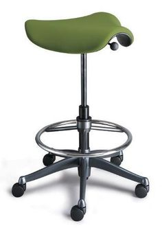 "A backless ""saddle stool"" stops you slumping back in your chair, lowers your thighs, opens up your hips and gently puts your spine into a ""healthy lordotic curve."""