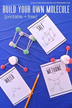 Isabella's Birthday: Lots of Fabulous Scientist Party Ideas! - Isabella's Birthday: Lots of Fabulous Scientist Party Ideas! mad-scientist-party-ideas-build-your-own-molecule-One-project-closer Kid Science, Mad Science Party, Mad Scientist Party, Science Week, Science Fair, Batman Party, E Mc2, Partys, Birthday Party Themes