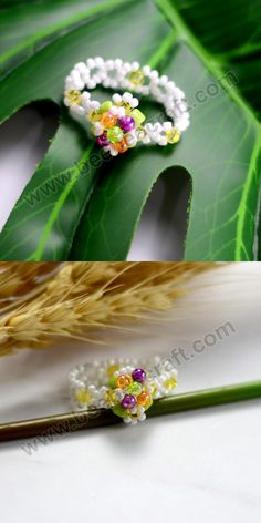 Seed beads & bugle beads are tiny beads that can be used in many jewelry making projects. They are rich in colors, bring you to create rainbow color jewelry and craft works. Ring Making, Bracelet Making, Diy Jewelry, Beaded Jewelry, Jewelry Making, Bugle Beads, Seed Beads, How To Make Rings, Bee Crafts