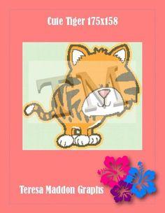 (4) Name: 'Crocheting : Cute Tiger 175x158