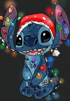 Christmas stitch by on DeviantArt Xmas Wallpaper, Christmas Phone Wallpaper, Cartoon Wallpaper Iphone, Disney Phone Wallpaper, Cute Cartoon Wallpapers, Phone Wallpapers, Disney Stitch, Lilo Ve Stitch, Christmas Cartoons