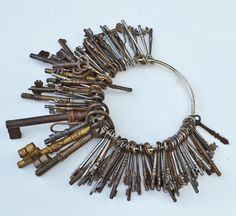 I love old keys and have a chain just like this. My husband and children have collected many of them for me.