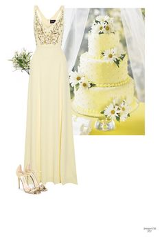 """""""Pastel Wedding"""" by babygurl7191 ❤ liked on Polyvore featuring Notte by Marchesa and Jimmy Choo"""