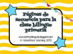 Sequencing for the primary bilingual classroom - Spanish!