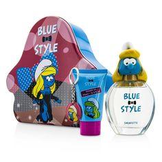 The Smurfs - Smurfette Набор: Туалетная Вода Спрей 100мл/3.4унц + Гель для Душа 75мл/2.5унц + Брелок  3pcs
