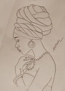 African woman pattern for tin glazed pottery project African American Art, African Women, Black Women Art, Black Art, Art Sketches, Art Drawings, Afrique Art, African Art Paintings, Afro Art